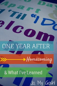 One Year After Homecoming & What I've Learned - Jo, My Gosh! I can totally relate, especially since it was ~a year ago Ricky cam home from deployment & now I'm waiting for him to come back from training. I'd wait again if I had to.