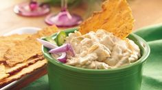 From Betty's Soul Food Collection...  Friends on the way? In just 10 minutes, whip up a dip that starts with creamy sour cream and ends with a chili-seasoned snack.