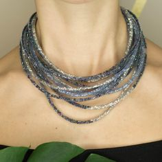 Multistrand skinny mesh necklace by TubesJewelry on Etsy