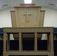 pulpit-boxed-table 9005 - Born Again Pews Church Pews, Church Design, Architecture Interiors, Solid Oak, Communion, Budget, Table, Furniture, Beautiful
