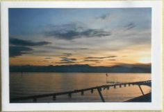 Fotopostkarte Sonnenuntergang am Bodensee IIII