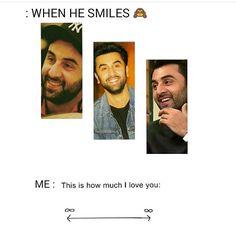 His smile Bollywood Quotes, King Of My Heart, Real Hero, Jena, Ranbir Kapoor, Bollywood Celebrities, Deepika Padukone, Good Looking Men, Prince Charming