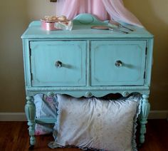 The Decorating Diaries: Turquoise Cabinet with Homemade Chalk Paint
