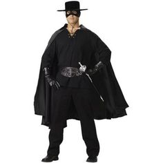 Gauze shirt, satin cape, studded belt, studded gloves, hat and mask. Pants and sword not included. Halloween Fancy Dress, Halloween Makeup, Halloween Costumes, Adult Halloween, Mexican Halloween, Mexican Party, Diy Costumes, Halloween Nails, Halloween Ideas