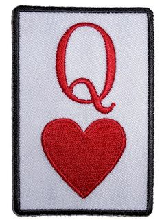 Queen Of Hearts Lady Rider Embroidered Biker Patch Small – Quality Biker Patches Know anyone who is the queen of hearts? This patch is a perfect Valentine's gift for them.