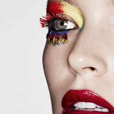 makeup beauty primary colors. model arizona muse