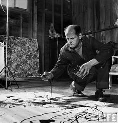 """Art icon Jackson Pollock,  the legendary and misunderstood painter also known as """"jack the dripper"""""""