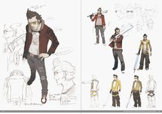 Sample page - The Art of Grasshopper Manufacture: Complete Collection of SUDA51 - A Great Video Game Designer in Japan #VideoGame #SUDA51 #ConceptArt #CharacterDesign