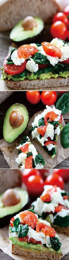 Avocado Toast with Eggs, Spinach, and Tomatoes Healthy Recipe I love trying new foods, flavors, and recipes, but I also love and appreciate the basics. You know, the foods you crave on a regular basis and the recipes you make over and over again.