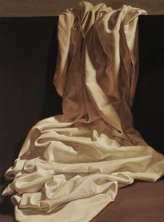 Sheet study by Barbara Pence, Oil painting, SLC, UT, Hein Academy of Art - I thought this was an actual photograph! This lady is amazing! Painting Still Life, Still Life Art, Fabric Painting, Painting & Drawing, Painting Lessons, Still Life Photography, Art Photography, Drapery Drawing, Academic Drawing