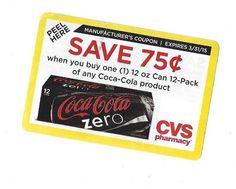 Coca-Cola Product 12oz can 12-pack - 03/31/2015 - CVS