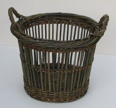 Fitched Log Basket - Joe Hogan Basket Maker - Traditional Irish Willow Baskets - obviously, I need to learn to fitch.