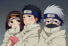 Rin wearing Obito's goggles <3