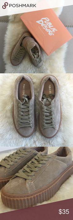 Public Desire Creepers Never worn- beige sue/gum outsole. UK 3 but I am a US SIZE 5.0 Public Desire Shoes
