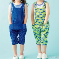 兄妹でおそろい!男女兼用の子どもの手作り夏服の作り方(6作品)   ぬくもり Sewing Patterns Free, Free Sewing, Handicraft, Vintage Dresses, Kids Outfits, Kids Fashion, Capri Pants, Pajama Pants, Children