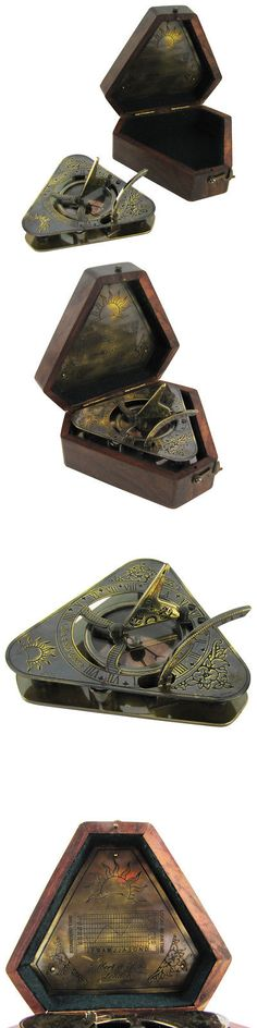 Antique Replica Reproduction Compass Old Style Camping Brass Bronze Ma