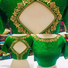 Embroidery blouse indian gold 68 Ideas for 2019 Pattu Saree Blouse Designs, Blouse Back Neck Designs, Stylish Blouse Design, Designer Blouse Patterns, Fancy Blouse Designs, Bridal Blouse Designs, Zardosi Work Blouse, Dress Designs, Hand Embroidery