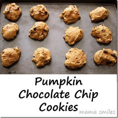 Pumpkin Chocolate Chip Cookies - the perfect treat for fall!  What is your favorite fall recipe?