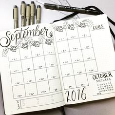 "492 Likes, 16 Comments - Plan Your Planner (@planyourplanner) on Instagram: ""#monthly spread for #september I have been on an acorn kick so I brought them into my #bujo for…"""