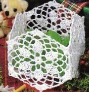 Free Crochet Pattern For A Square Snowflake Basket