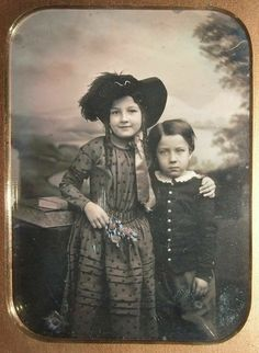 Big sister! Had to save this, just too adorable not too! I like that little girl! Ca. 1850
