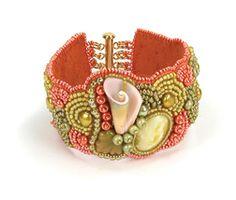 Jamie Eakin Cloud bead embroidered bracelet