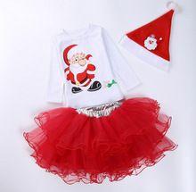 5sets/lot toddler girls clothing sets christmas (shirt+skirt+cap) boys kids set 1125 sylvia 38824453384(China (Mainland))