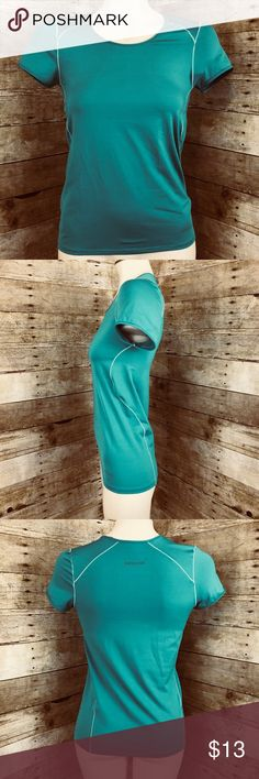 """Patagonia Shirt Patagonia Teal Common Threads Recycling Program Short Cap Sleeve Top Extra Small  Measurements:  Chest 14"""" Length 22.5"""" Patagonia Tops Tees - Short Sleeve"""