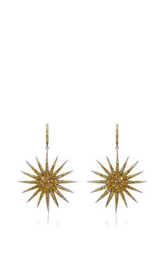 Yellow Diamond Starburst Earrings by Bochic for Preorder on Moda Operandi #littleadditions