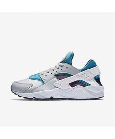 superior quality 489f5 bb38f Nike Air Huarache Wolf Grey Aquatone Purple Dynasty White Trainers