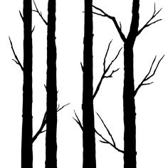 Recreate the stark beauty of a winter forest with the Wilderness Grove Removable Wall Art set. Featuring four beautiful tree trunks with branches that have dropped their leaves, the vertical style of t...  Find the Wilderness Grove Removable Wall Art - Set of 4, as seen in the Decals Collection at http://dotandbo.com/category/decor-and-pillows/for-the-wall/decals?utm_source=pinterest&utm_medium=organic&db_sku=103440
