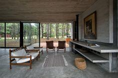 "dezeen: "" Concrete cabin by Luciano Kruk Arquitectos built in an Argentinian woodland » """