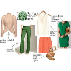 """""""Tawny Spring Must-Haves - The Maverick"""" by goldkehlchen on Polyvore"""