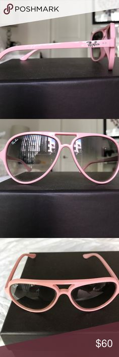 777393d56c6 Authentic Ray-Ban Sunglasses Baby pink Ray-Ban CATS 5000 sunglasses Ray-Ban