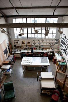 Veja uma seleção incrível de maravilhosos espaços de trabalho para artistas dos…