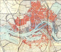 Kaart van Rotterdam 1912 #map #rotterdam #netherlands