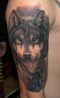 Wolf - Blue eyes