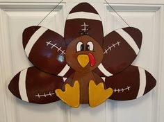 Check out this item in my Etsy shop https://www.etsy.com/listing/568122263/turkey-football-door-hanger
