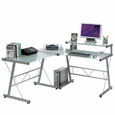 L-Shaped Workstation, $179, now featured on Fab.