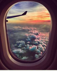 Clouds from airplane window // I love the window seat Beautiful World, Beautiful Places, Beautiful Beautiful, Adventure Is Out There, Oh The Places You'll Go, Belle Photo, Adventure Travel, Sky Adventure, Airplane View