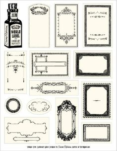Host-It Notes: Free Apothecary Labels