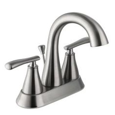 Schon Zuri 4 in. Centerset High-Arc Bathroom Faucet in Brushed Nickel at The Home Depot - Mobile Single Handle Bathroom Faucet, Bathroom Sink Faucets, Bathrooms, Home Depot, Barrel Sink, Next Bathroom, High, Chrome, Brushed Nickel