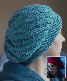 Free Knitting Pattern for Once Upon a Time - Ruby's Beret - Leslie Dalton's slouchy tam was inspired by the hat worn by Ruby / Red Riding Hood in Once Upon a Time Season 1, Episode 11. Pictured project by rachelcreative