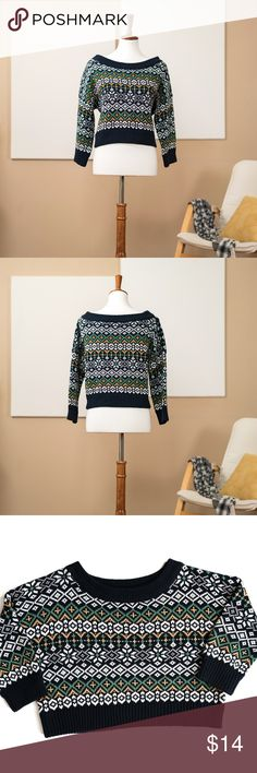 BDG Knit Cropped Sweater Pre-owned. 60% Cotton, 40% Acrylic. Bundle and save 15% off 2+ items! BDG Tops