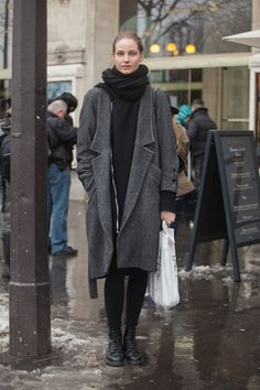 STREET STYLE Masha Voronova wears Helmut Lang in Paris. Photo by Melodie Jeng of NYC Streets Photo Blog