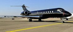 'Blair Force One': The Bombardier Global Express jet has the ability to fly miles an. Luxury Jets, Force One, Looking For People, Aircraft Pictures, Jet Plane, Air Travel, Aviation, Private Jets, Airplanes