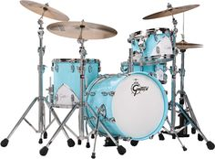 I love the retro look that Gretsch came up with on this kit. It has a 1950s Cadillac vibe.