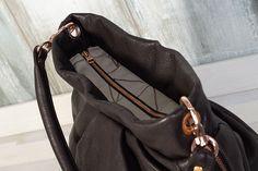Eine lässige Hobo Bag Tasche mit Falten, Schulterriemen, Reißverschluss und Innentasche nähen - ganz einfach mit dem pattydoo Nähbuch!
