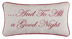Evergreen Toile 'And to All a Good Night' Lumbar Pillow