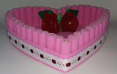 Cesta de EVA no Elo7 | Eliane Silva Santos (AD397F) Wedding Gift Wrapping, Wedding Gifts, Cd Crafts, Quilling Craft, Candy Jars, Wraps, Fancy, Creative, Education